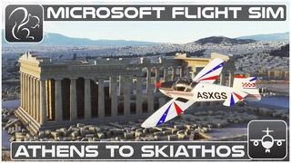 Athens to Skiathos (Mudry CAP10) - Microsoft Flight Simulator (LGAV-LGSK)