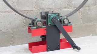 Make A Metal Bender | Simple Homemade Roller Bender Without Welding | DIY