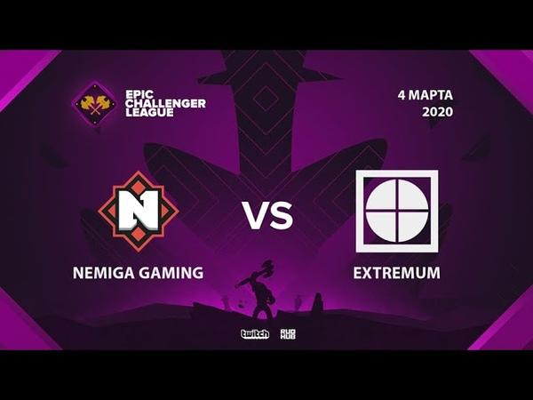 Nemiga Gaming vs EXTREMUM Epic League Challenger bo3 game 2 Eiritel Lost