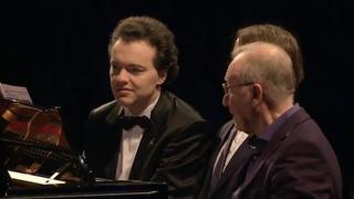 Evgeny Kissin,Rodion Shchedrin,Daniil Trifonov play Rachmaninoff-Romance in A major six hands