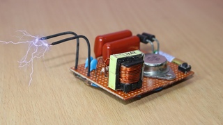 how to make 4 volt to 4 lakh volt using cfl circuit at home