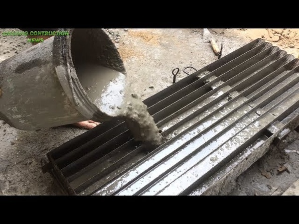 How to make cement concrete molds Precast skills to construction beautiful fences easily