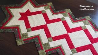 Diamonds Christmas -  MODA Fabrics - Patchwork tutorial