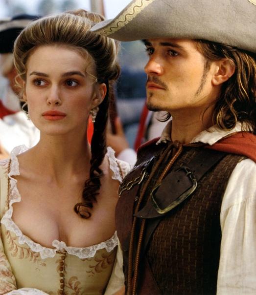 Элизабет Свон и Уилл Тернер (Кира Найтли и Орландо Блум) Пираты Карибского моря