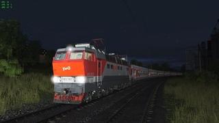 "Trainz Railroad Simulator 2019 сценарий ""152М Москва-Анапа"" DLC Ростовский узел"