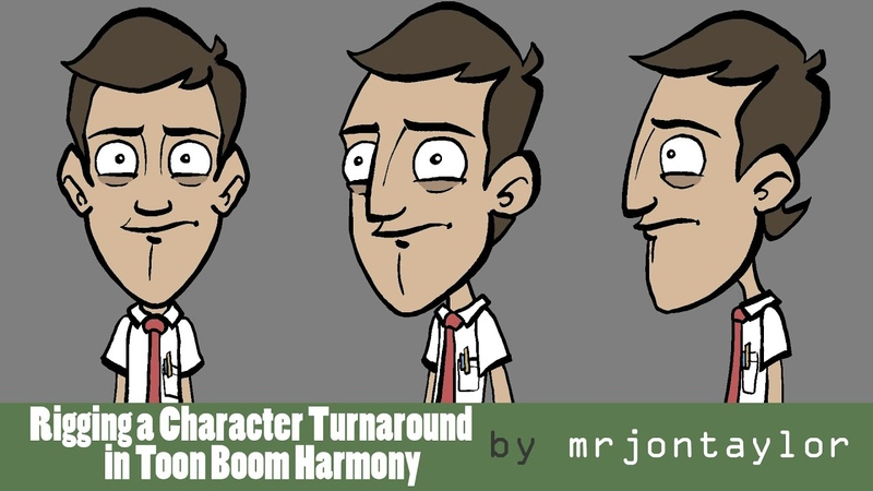 Rigging a Character Turnaround in Toon Boom Harmony character by Jazza