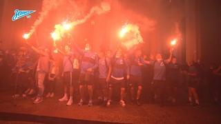 «Мы чемпионы!»: как «Зенит» вернулся в Петербург // We are the champions! Zenit on their way home