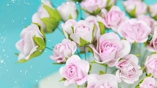 Небольшие Розы и бутоны роз из фоамирана/ Цветы своими руками/ Закулисье33.2/ flores de foamy