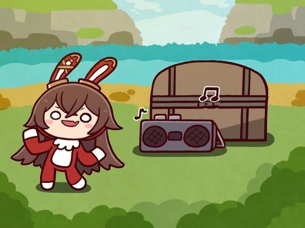 원신 토끼백작 댄스 애니 (Amber Bunny Dancin Anime)