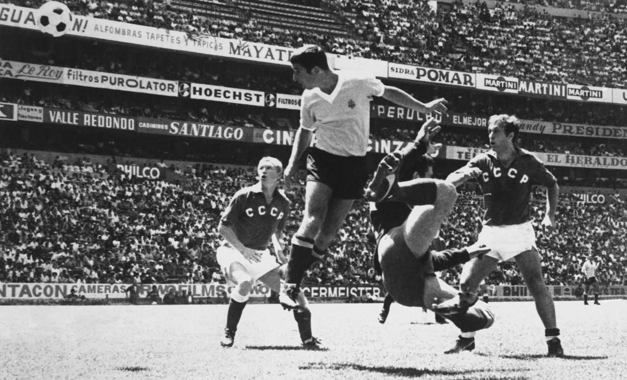 Уругвай - СССР, 1:0. Чемпионат мира-1970 в Мексике