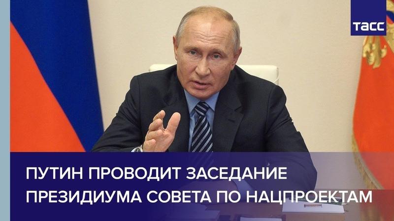 Путин проводит заседание президиума Совета по стратегическому развитию и нацпроектам